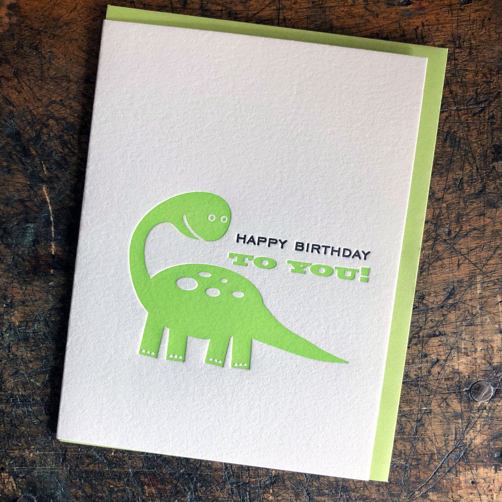 Happy Birthday To You - Dinosaur