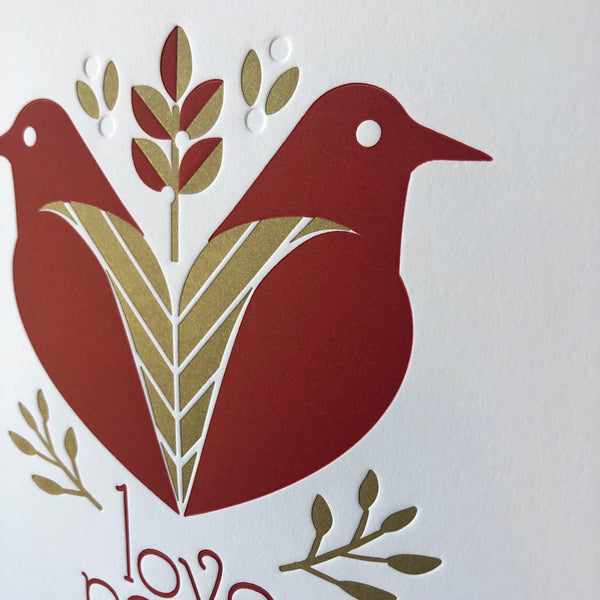 Dove love, peace and joy print