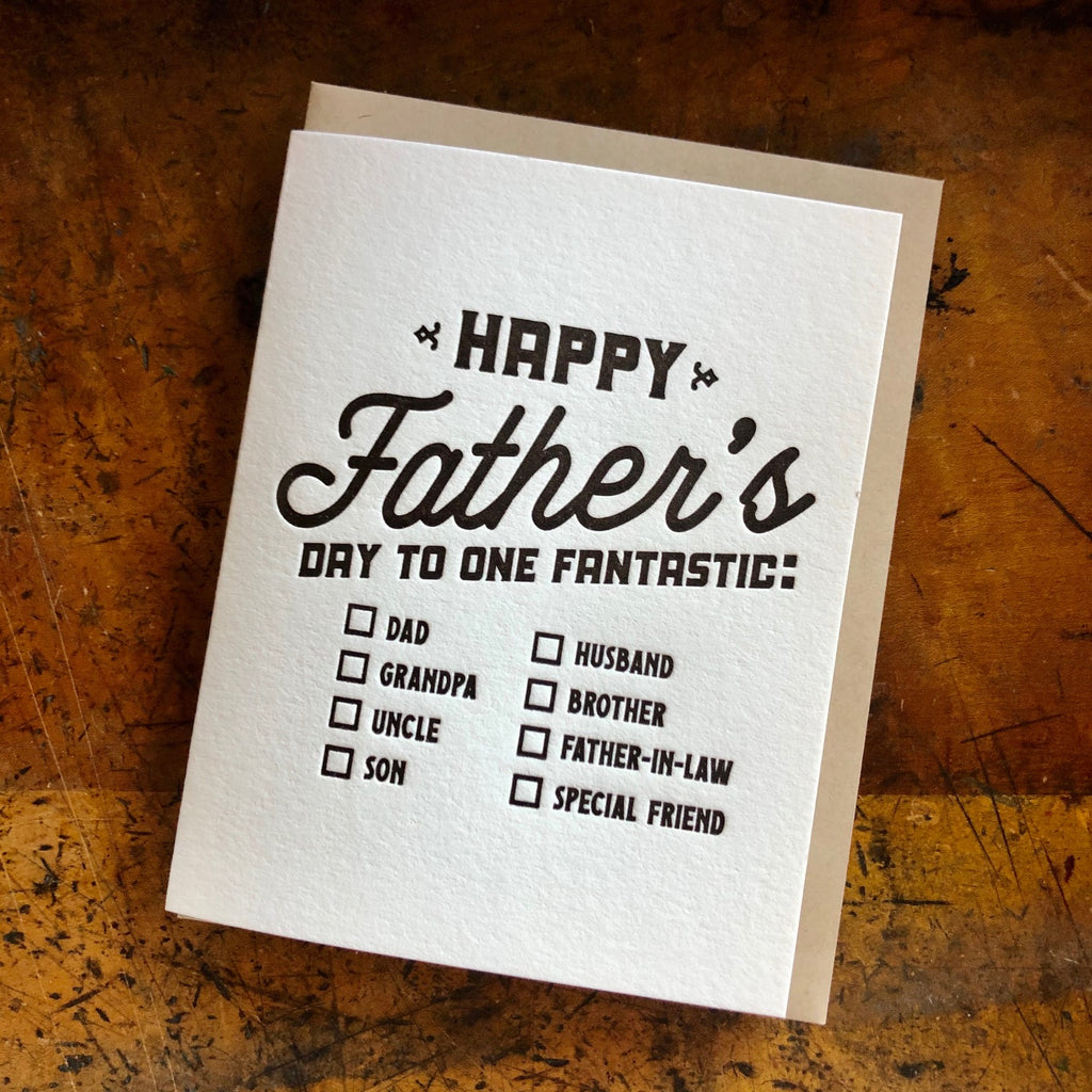Happy Father's Day Check the Box