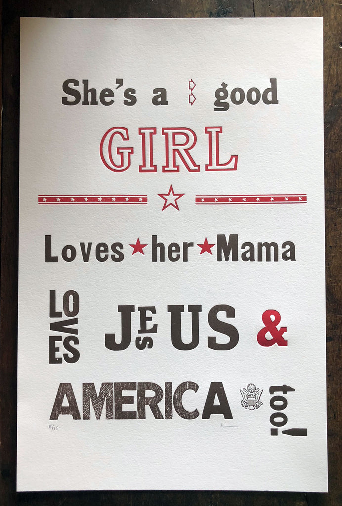 She's a Good Girl Print