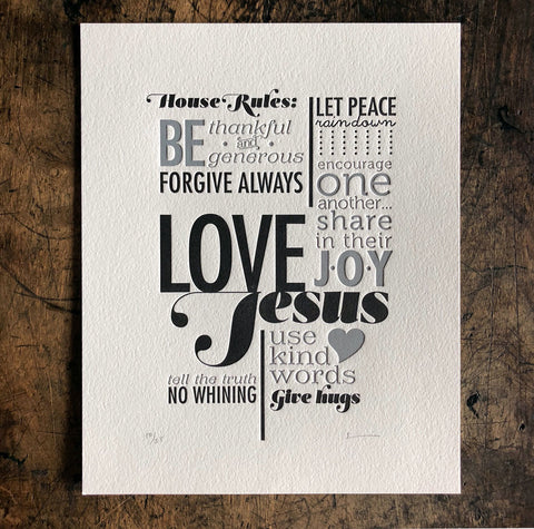 House Rules Print - Jesus