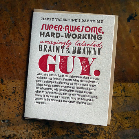 Super Awesome Guy - Happy Birthday Card