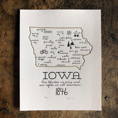 Iowa Print - Cities