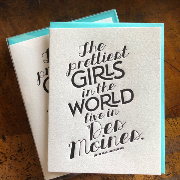 Prettiest Girls in Des Moines Card