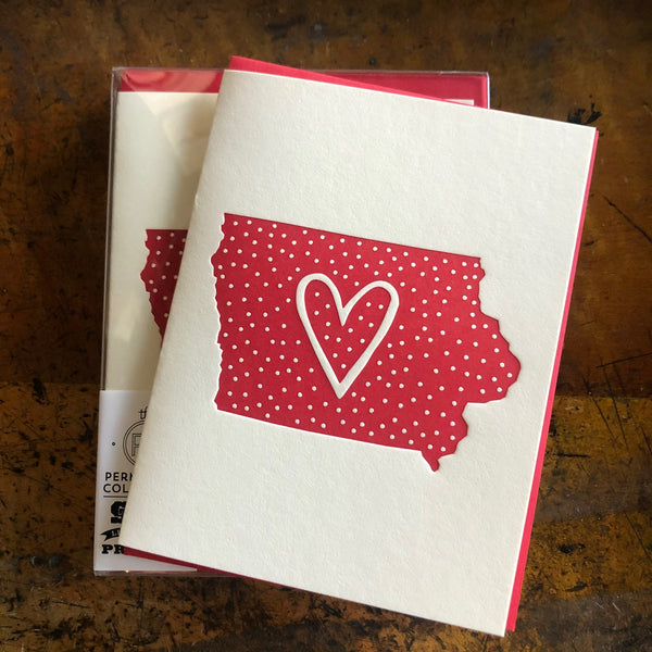 Polka Dot Iowa cards