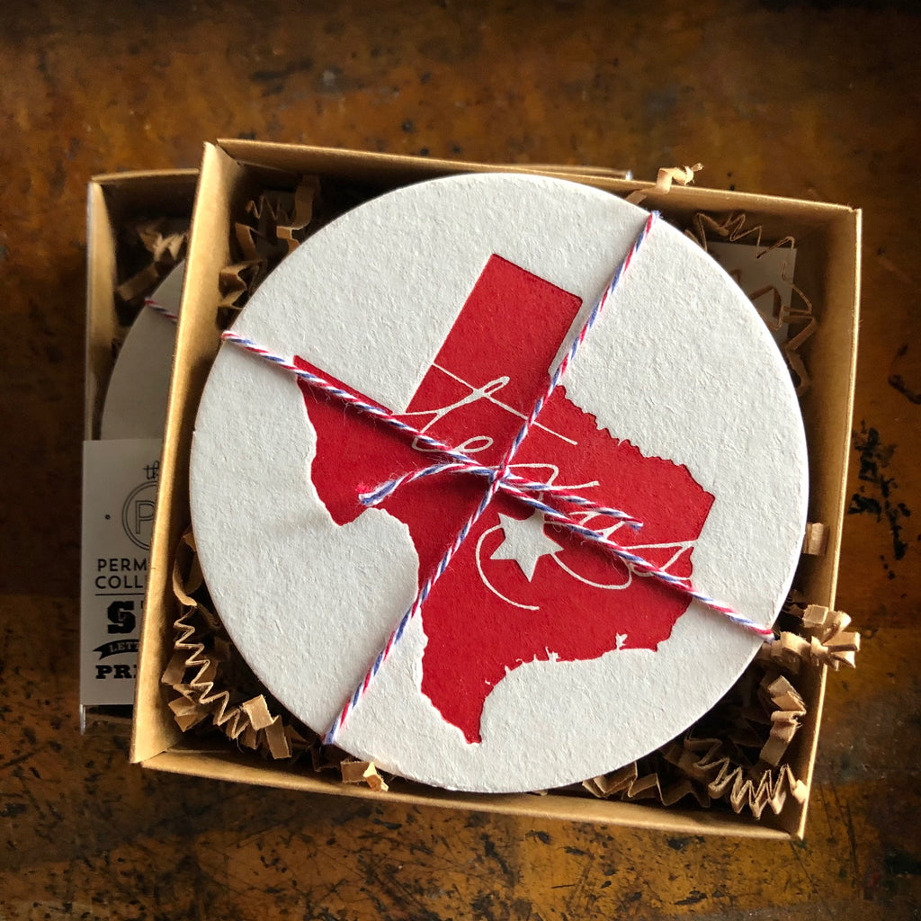 Texas set of six coasters