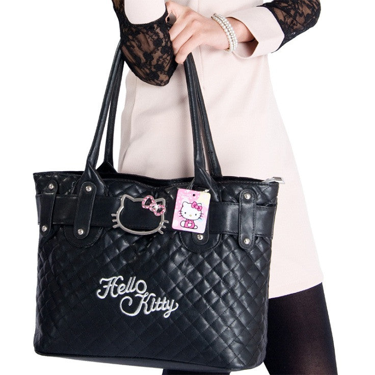 ... 2018 Hello Kitty Bags Leather Women Bag High Quality Shoulder Bags  Handbags 76a2a2aafd14c