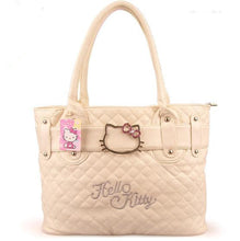 Hello Kitty cute shoulder big bag women fresh cartoon leather designer large clutches handbags
