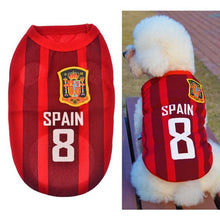 New Fashion Summer Cute Dog Pet Vest Puppy T Shirt World Cup Football doggy cloth clothing dog Sportswear soccer jersey