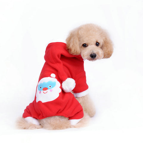 Christmas  Santa Claus Red Hoodies Dress    Dog Lovers Dog Cloth