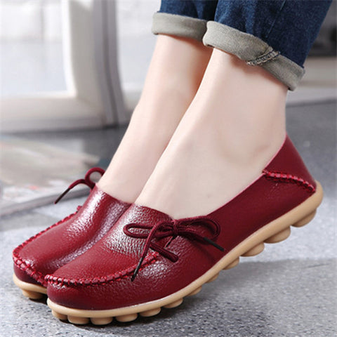 2017 New  Leather Women Flats Moccasins Casual Shoes Leisure Concise Flat shoes In 15 Colors