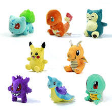 "12 Style Mini Toypia Figure Plush Doll Toy 5.5"" Pikachu Charmander Gengar Bulbasaur Suicune Dragonite Snorlax Figure Toy Gift"