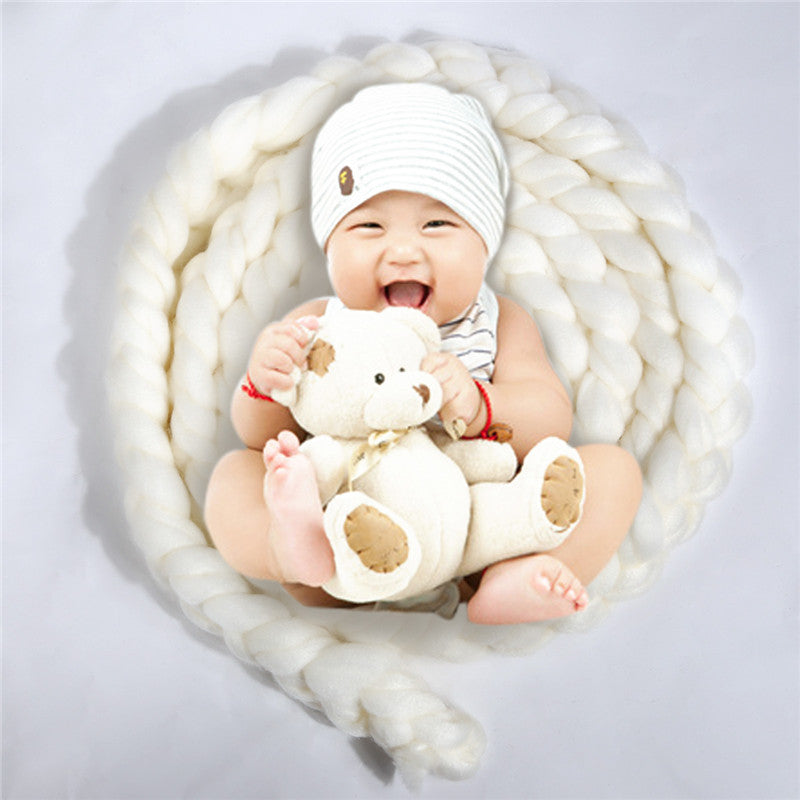Newborn Photography Props Baby Photo Blanket 12 Colors 4M Long Basket Acrylic  atrezzo fotos bebe