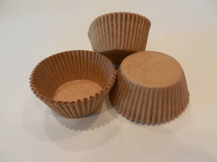 48 Brown Craft Paper Cupcake Liners Cups Cake Cupcake Candy Cookie Decorations