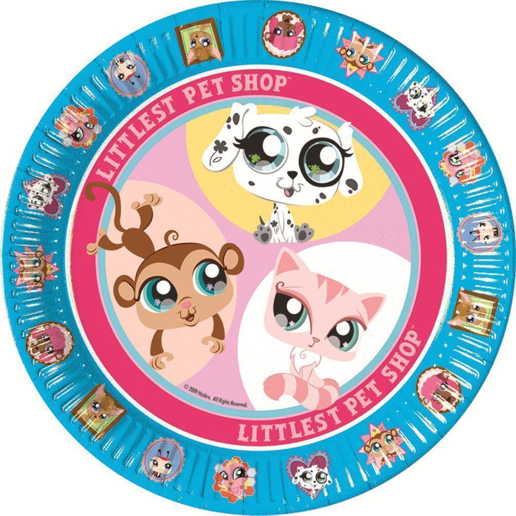 Littlest Pet Shop 8 PAPER PLATES - 23cm (Party/Decoration/Birthday/Kids)