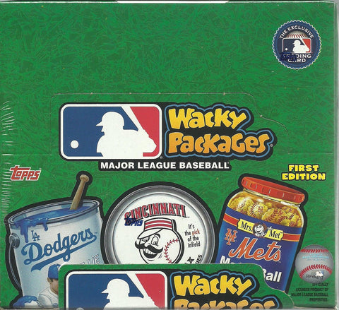 2016 Topps MLB Wacky Packages Trading Sticker Cards New 160ct. Retail Box
