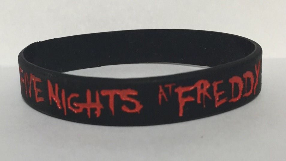 FIVE NIGHTS AT FREDDY'S Black Silicone Bracelet BIRTHDAY PARTY FAVOR FNAF 5