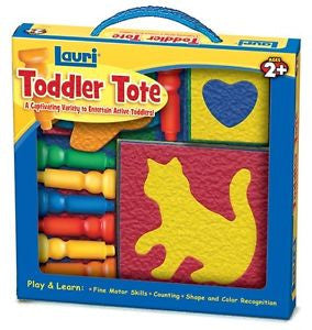 Lauri Toddler Tote Travel Toy Special Needs Peg Board & Puzzles Autism