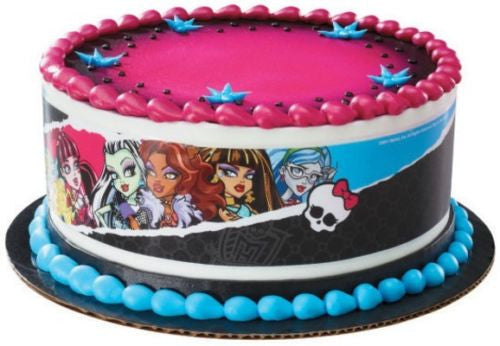 Monster High ~ Edible Cake Image Topper ~ 1/4 Sheet Designer Strips D353