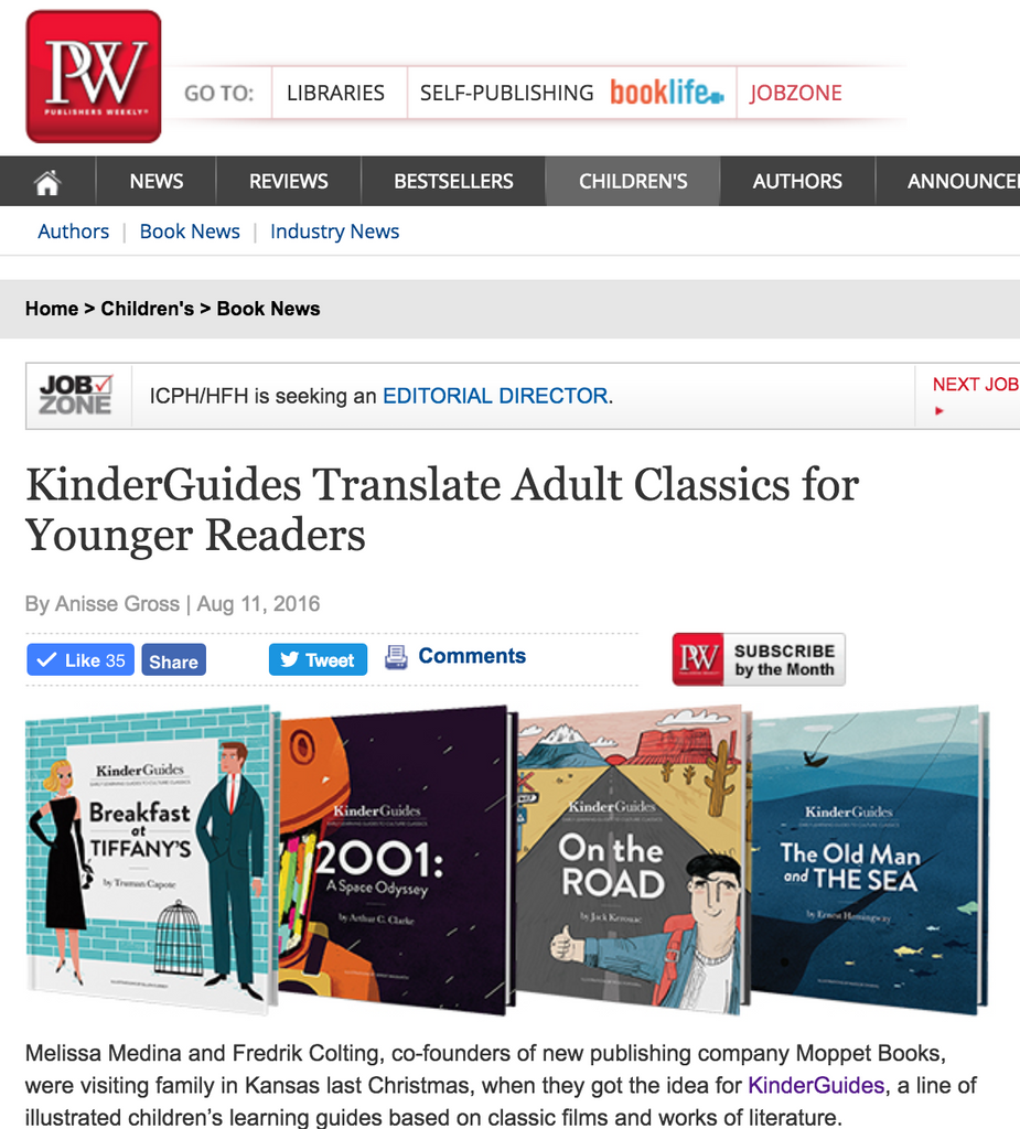 KG in Publishers Weekly!