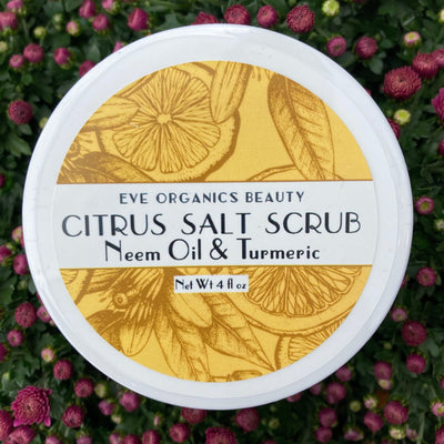 NEW! Citrus Salt Scrub w/ Neem & Tumeric - Eve Organic Beauty