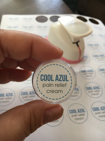 Cool Azul Pain Relief Cream Labels (Digital)