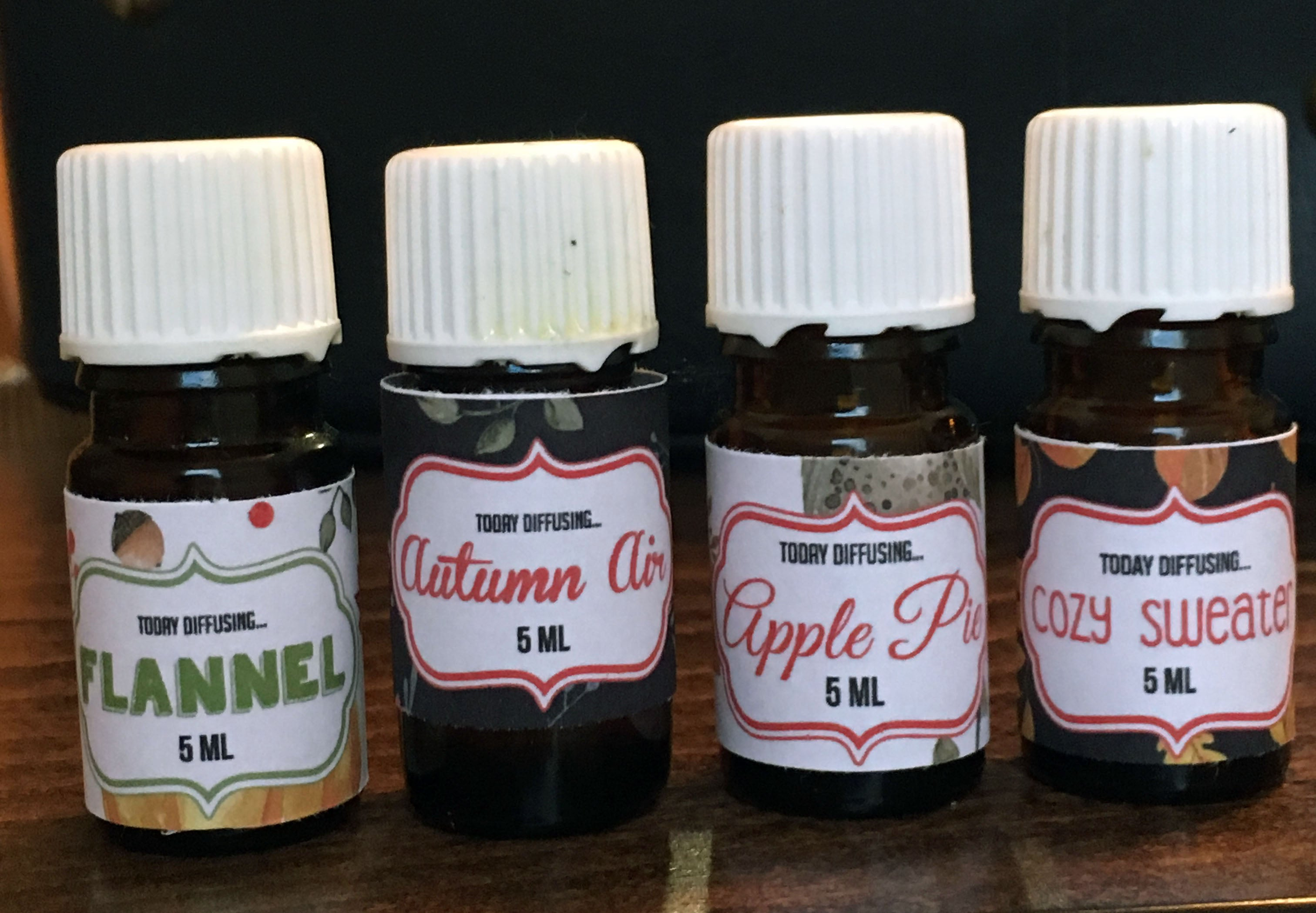 Today Diffusing: Autumn (with coordinating labels)