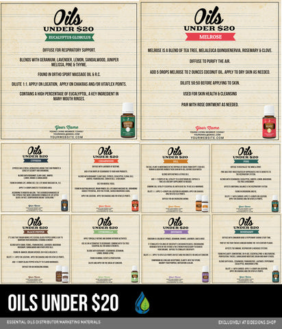 Product Cards: Oils Under $20