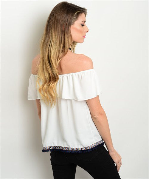 Ivory Off The Shoulder