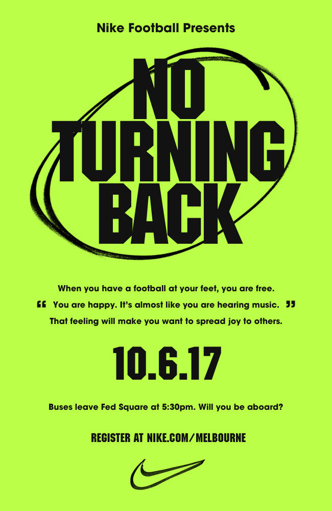 Nike  No Turning Back  - Melbourne - 10th June 2017  a1cfb72b9d0