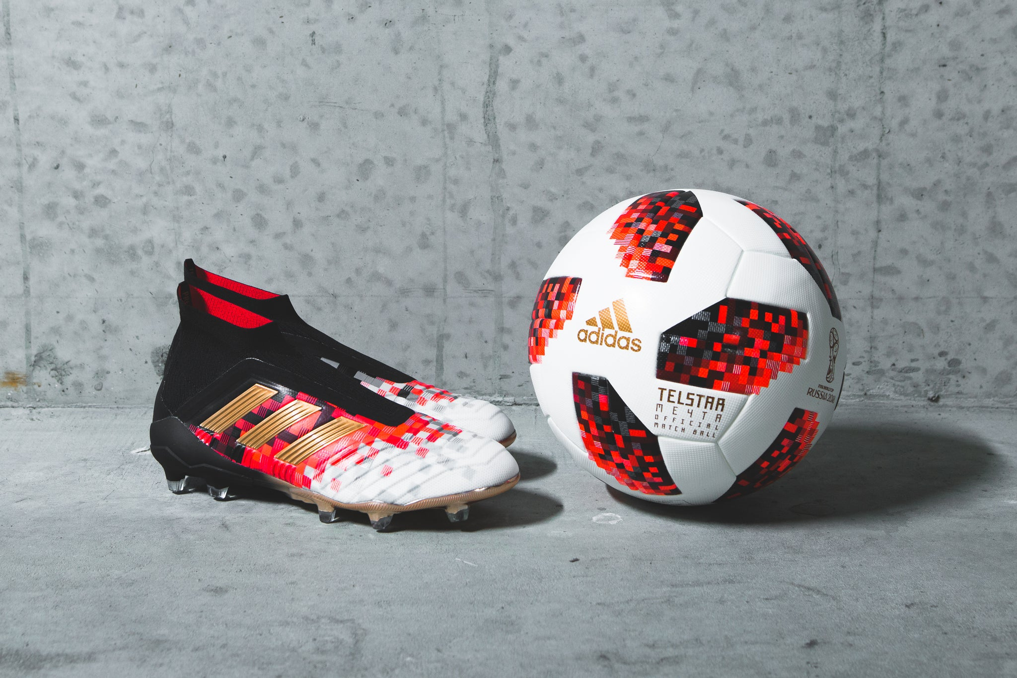 best loved 18d35 6da03 ... adidas Predator Telstar 18 Football Boot. Brought to life for the  Knock-out stages of this years FIFA World Cup by its knock-out round  matchball ...
