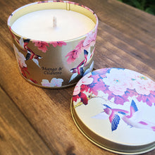 Load image into Gallery viewer, Oriental Bird Tin Soy Wax Candle