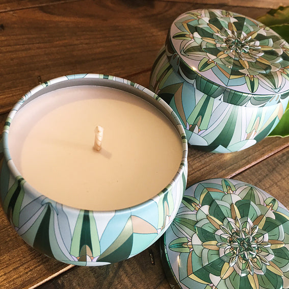 Art Deco Tin - Bamboo & White Lily