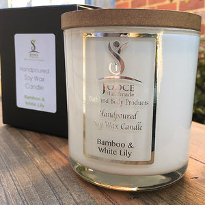 White Tumbler Soy Wax Candle