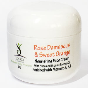 Rose Damascus and Sweet Orange, Nourishing Face Cream