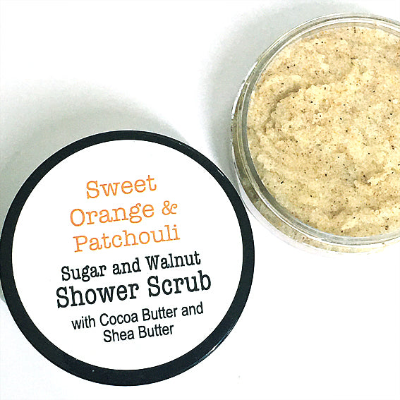 Shower Scrub - Sweet Orange & Patchouli