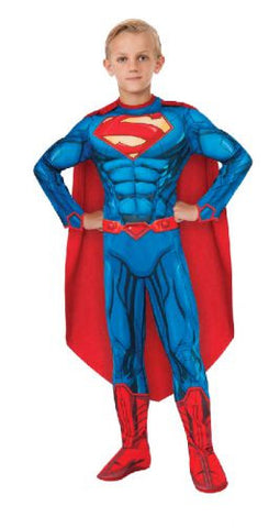 SUPERMAN DELUXE MUSCLE SUIT COSTUME - SIZE 3-5