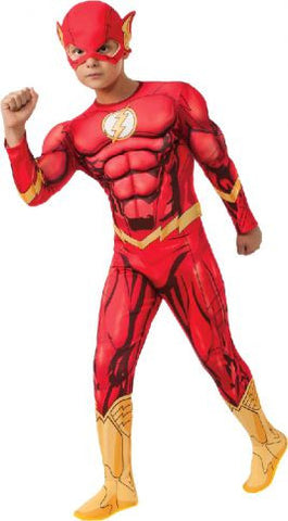 THE FLASH DELUXE MUSCLE SUIT COSTUME - SIZE 6-8
