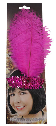 20s Headband Sequined Pink