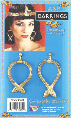 Cleopatra Cobra Earrings Gold