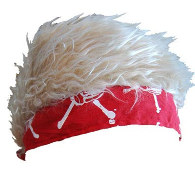 Flair Hair Red Bandanna Blonde Hair