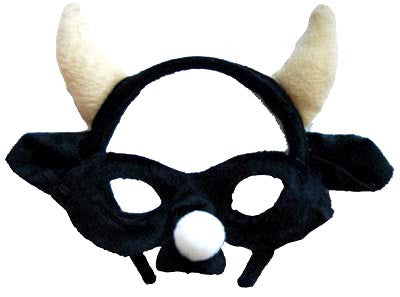 Animal Headband n Mask Set Bull/Black
