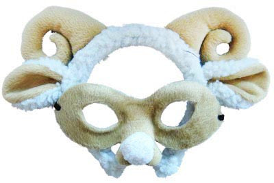 Animal Headband n Mask Set Ram/Sheep