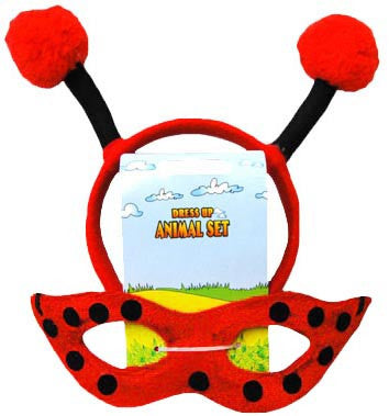 Animal Headband n Mask Set Lady Bug