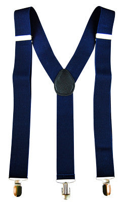 Stretch Braces/Suspenders Navy Blue