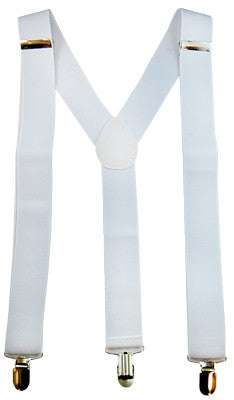 Stretch Braces/Suspenders White
