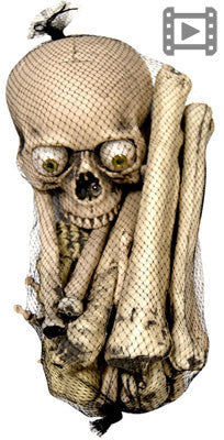 18pc Bag of Bones w/Light Up Eyes/Sound