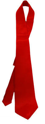 Satin Gangster Tie Red