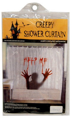 Creepy Bloody Shower Curtain Help Me Party Supply Warehouse
