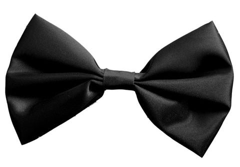 Satin Bow Tie Black